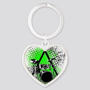 Drums  Sticks Heart Keychain